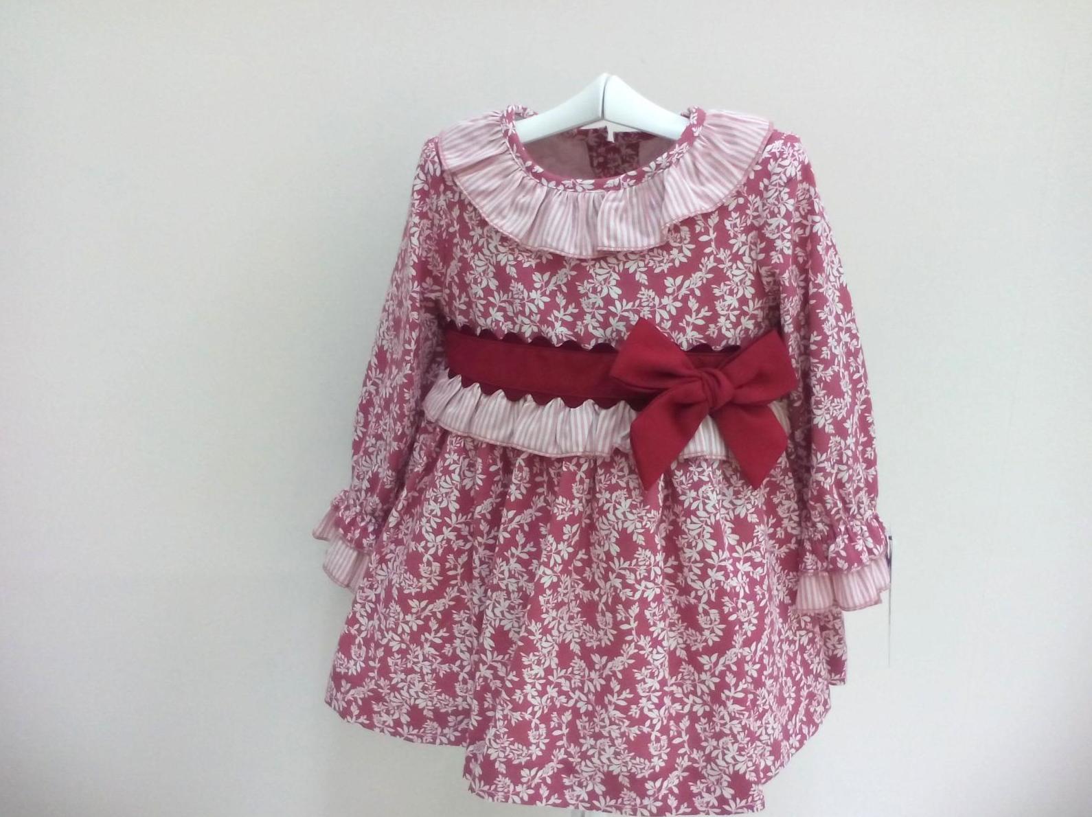 Vestido para niña en granate de Basmarti