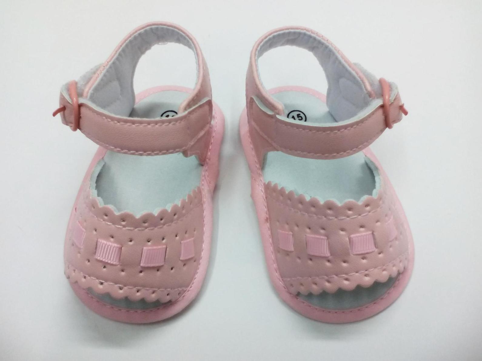 Sandalia niña sin suela en rosa