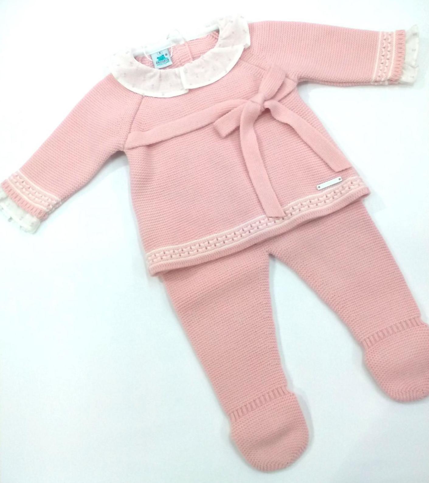 Conjunto de bebé rosa empolvado de Pangasa