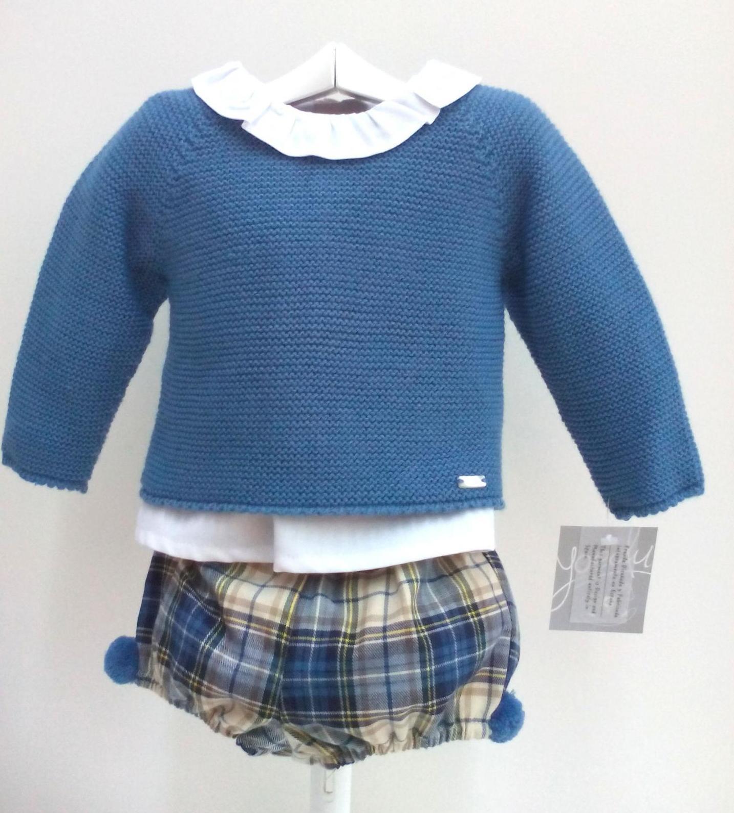 Conjunto de niño de tres piezas en azul de Yoedu