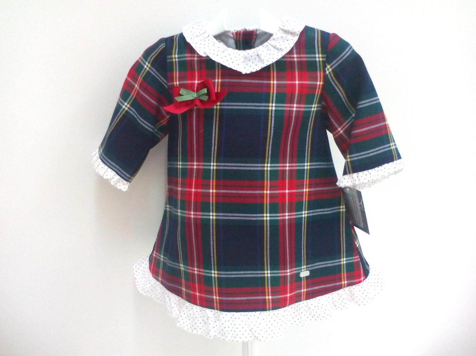 Vestido para niña escocés Velázquez de Yoedu