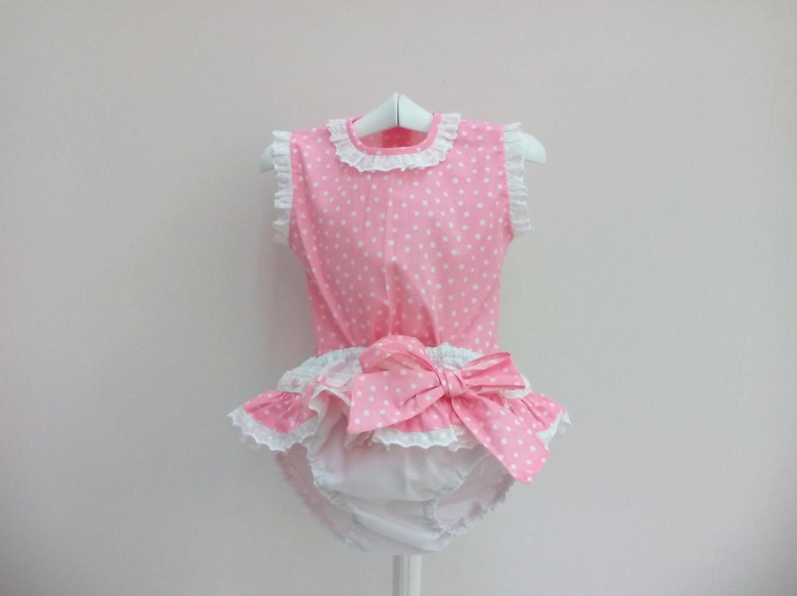 Camisa de niña con braga de piqué de Creaciones Alves