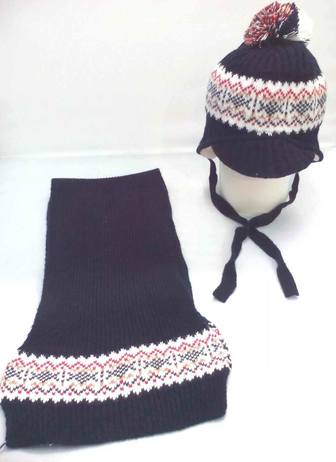 Conjunto de niño de gorro marino con grecany bufanda de Jose Luis Navarro