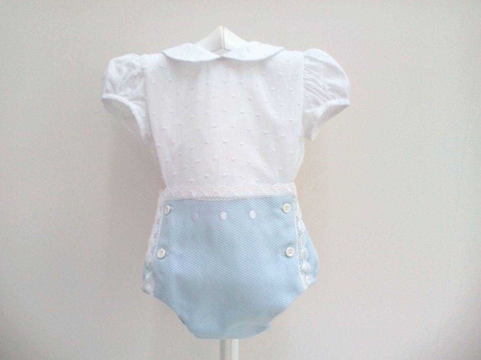Camisa plumeti con braga piqué de niño de Alves