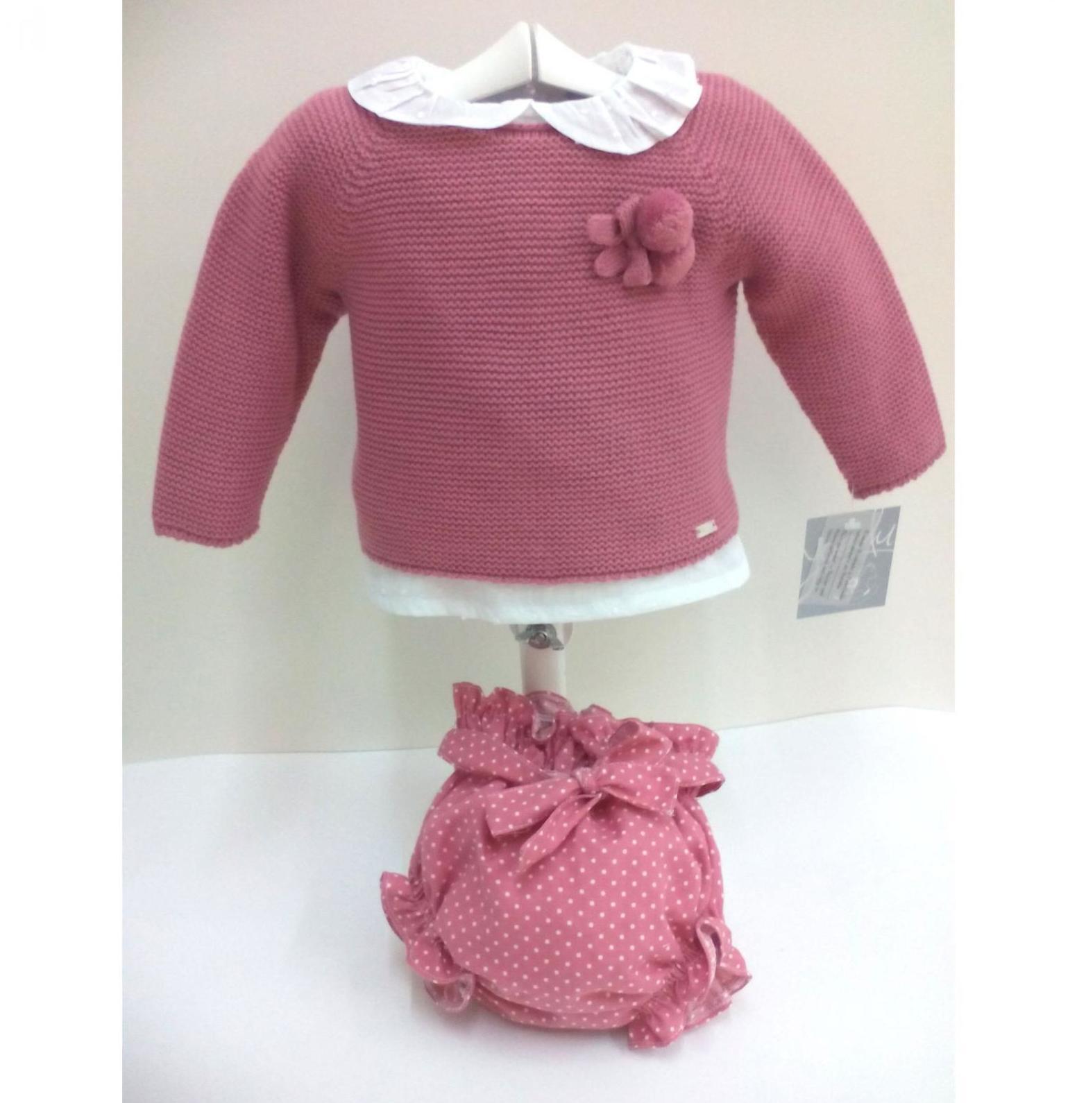 Conjunto de niña de tres piezas con jersey de Yoedu