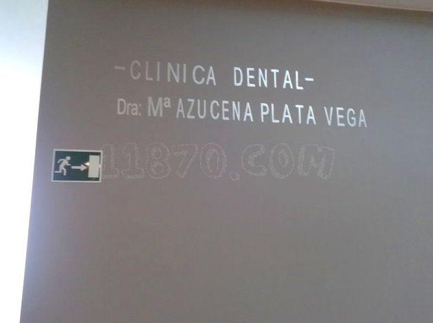 Clínica dental Dra. Mª Azucena Plata Vega en Utrera, Sevilla