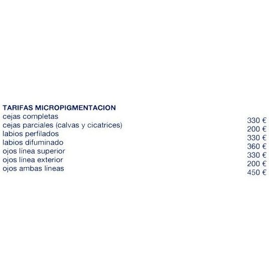 Tarifas micropigmantación: Servicios de Assía Instituto de Belleza