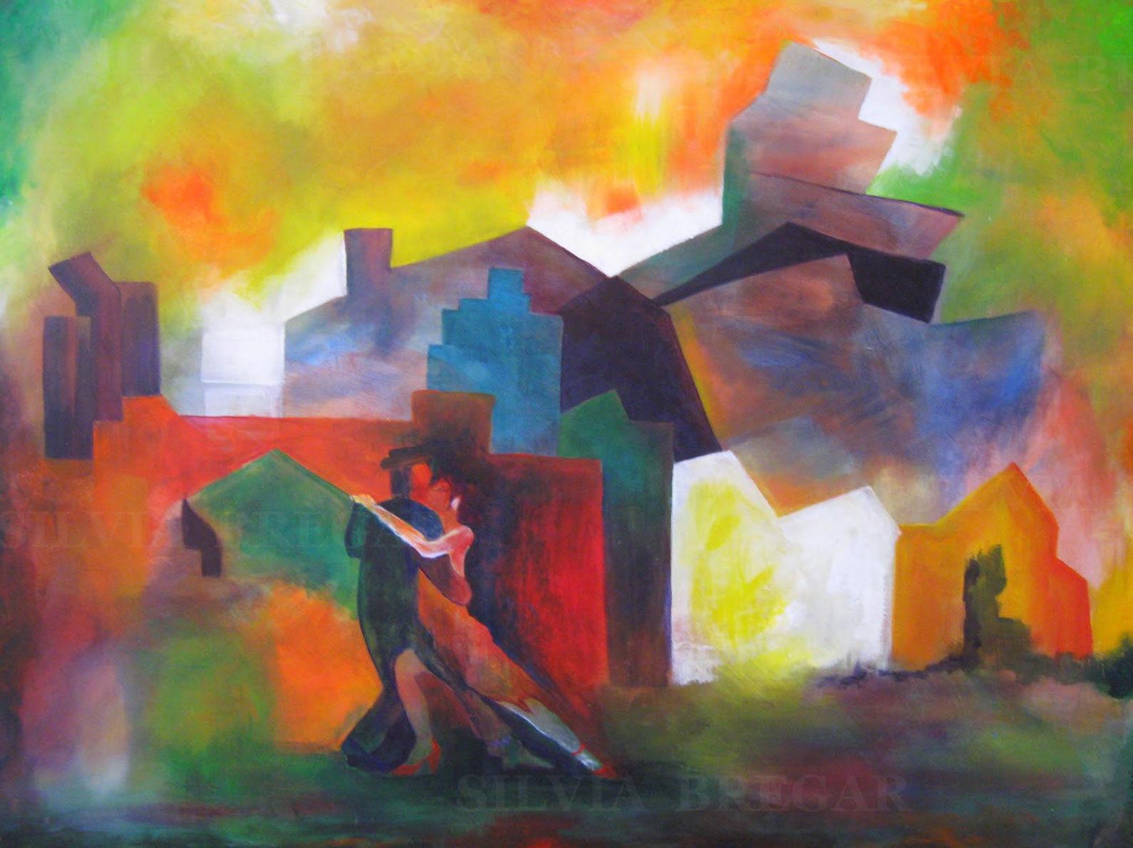 Silvia Bregar Pintura. Serie Tango y Milongas