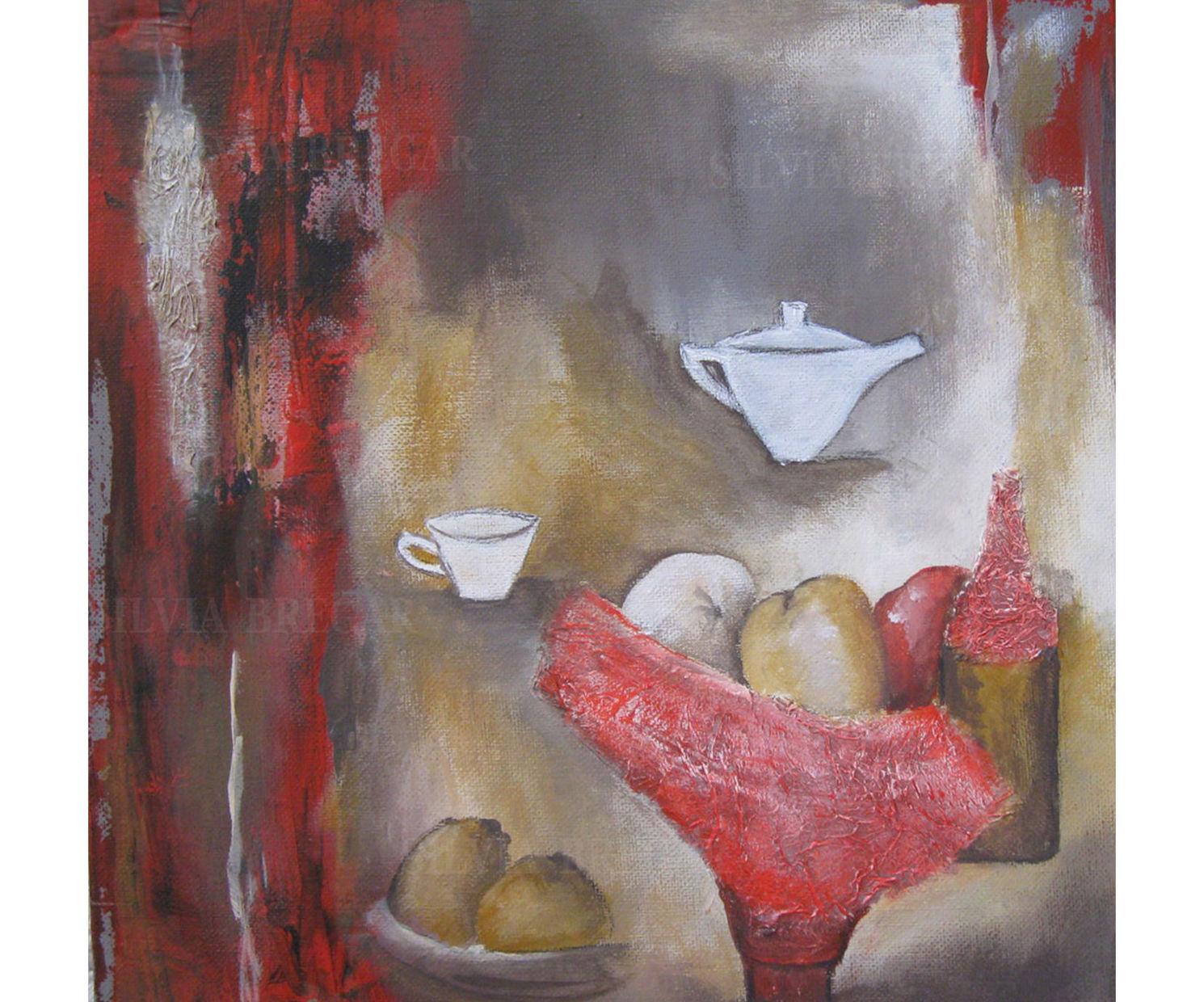 Silvia Bregar Pintura. Serie Bodegones