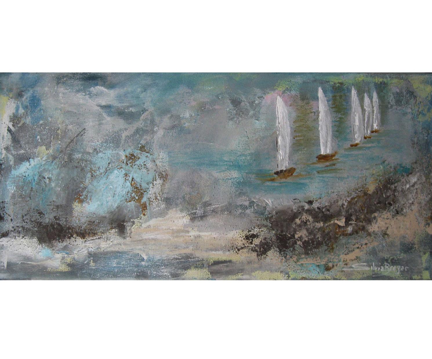 Silvia Bregar Pintura. Serie Marinas