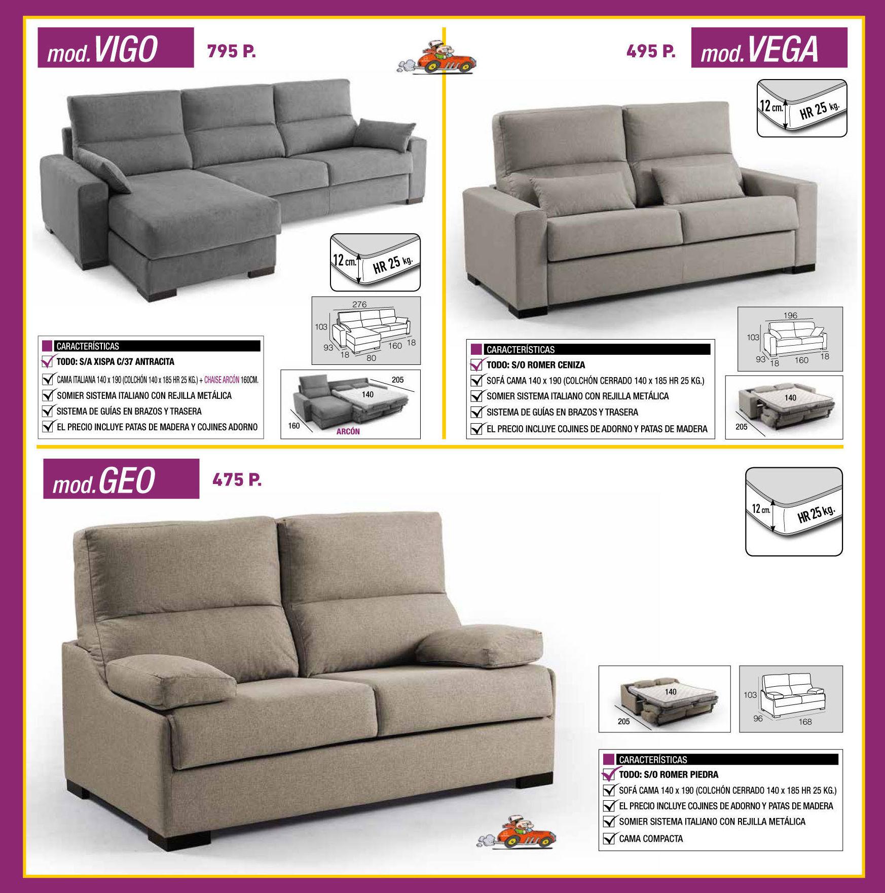 Sofá cama: Mobiliario de Jaume O. Grau Mobles