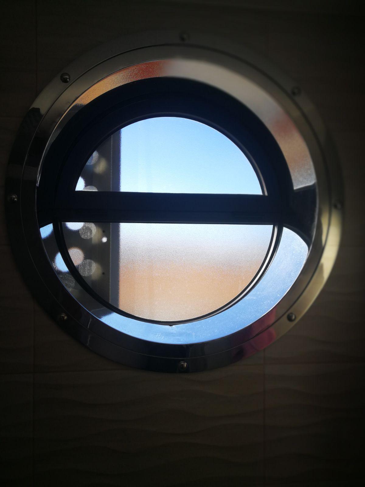 Ojo de buey en acero inoxidable brillo , ventanas redondas