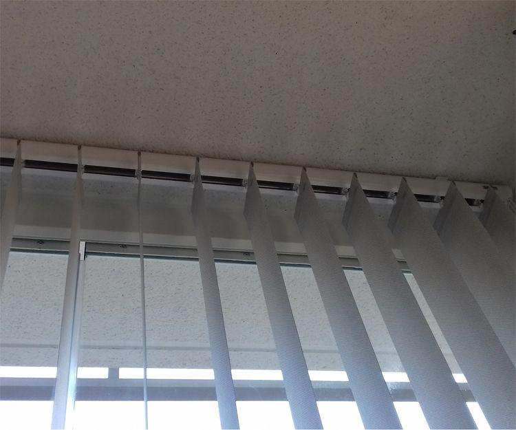 Detalle de lamas verticales