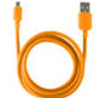 CABLE DATOS KSIX USB A MICRO USB NARANJA 1,20 M : Reparaciones de Playmon Servicios Técnicos Fotográficos