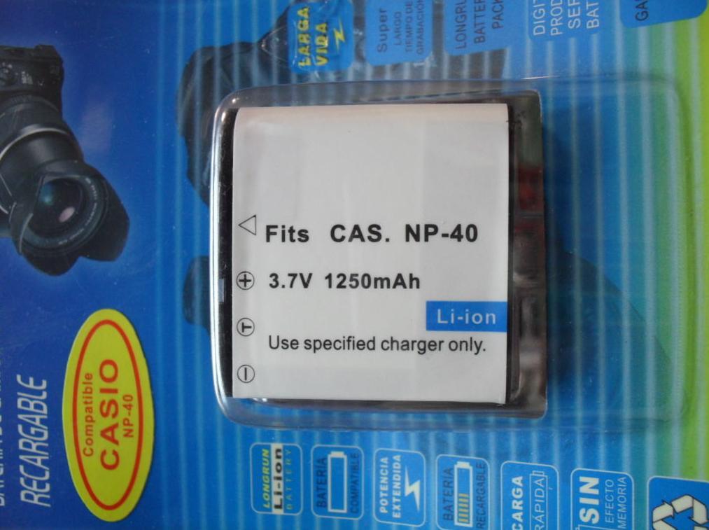 Batería NP-40: Reparaciones de Playmon Servicios Técnicos Fotográficos