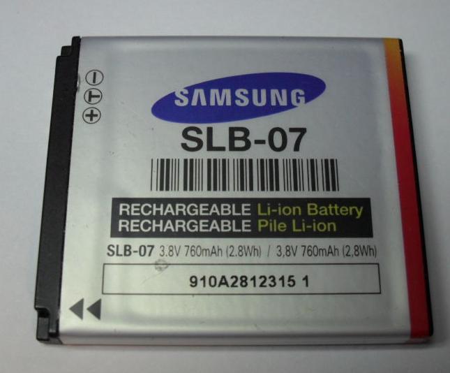 Batería SLB-07: Reparaciones de Playmon Servicios Técnicos Fotográficos