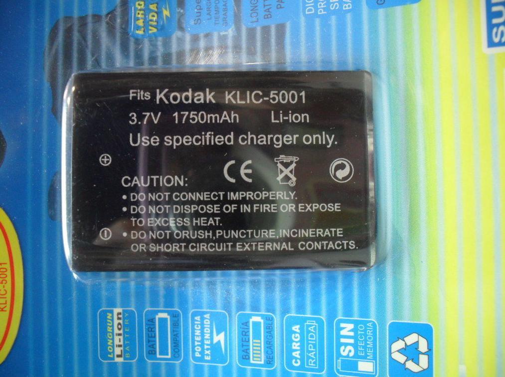 Batería KLIC-5001: Reparaciones de Playmon Servicios Técnicos Fotográficos