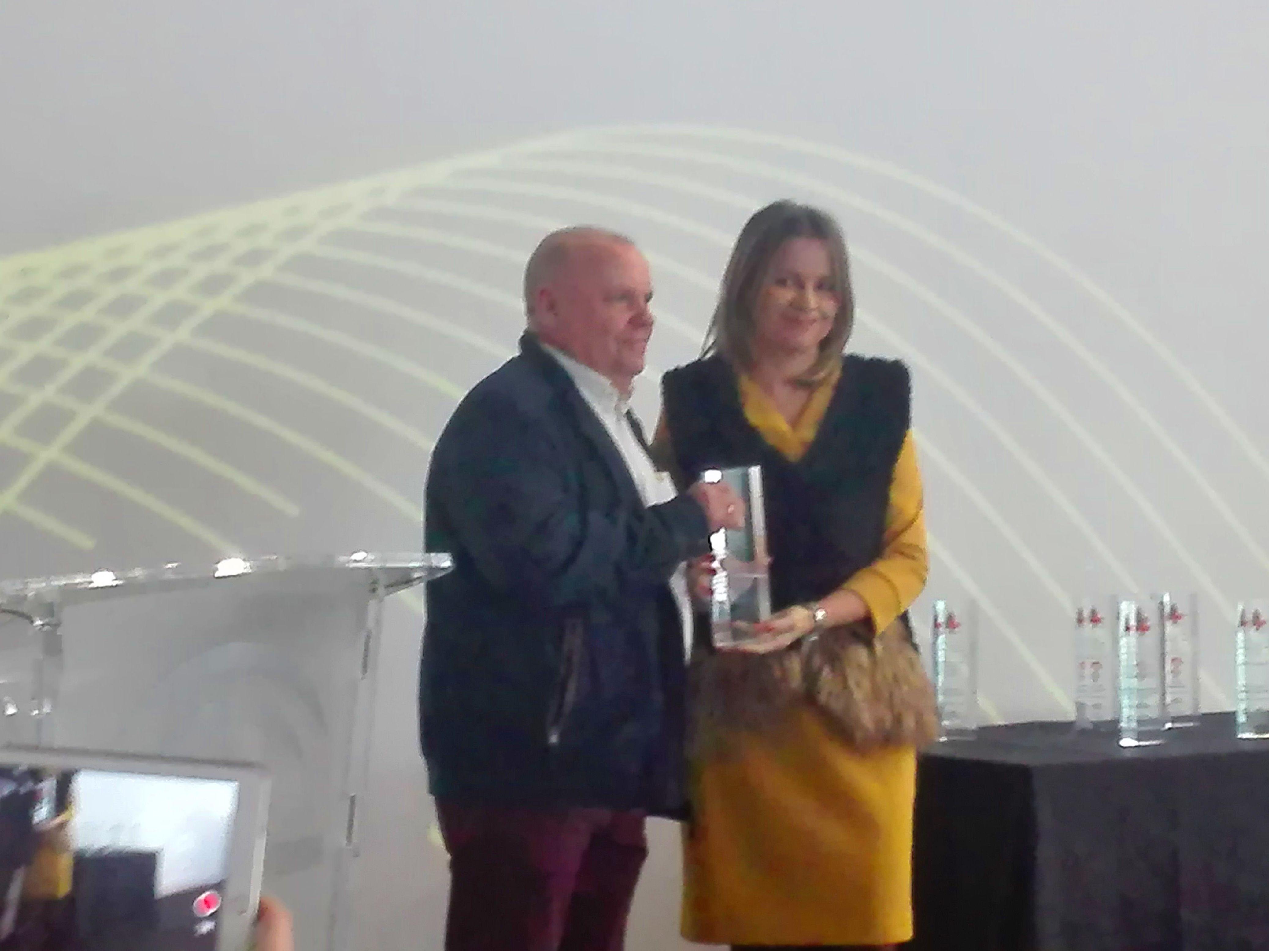 Acto de entrega de los Premio\u0022Andalucía más Social 2018\u0022  Otorgado a la asociación de A.P.L.I.J.E.R.