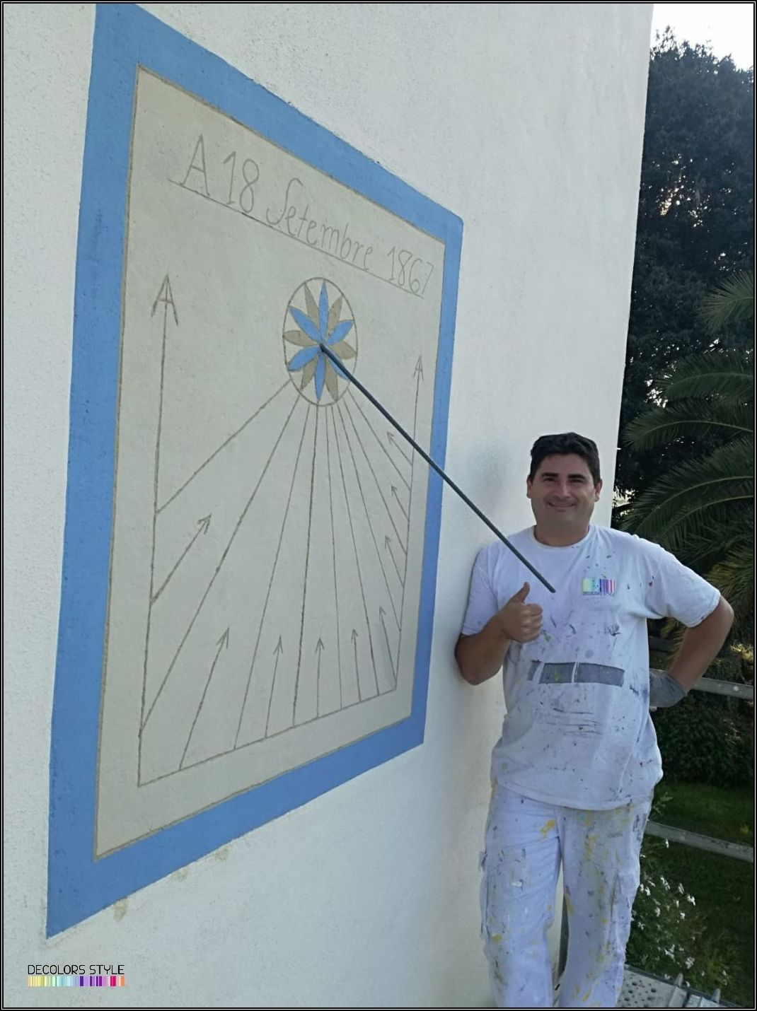 Alta Decoración - Restauración Reloj de Sol.