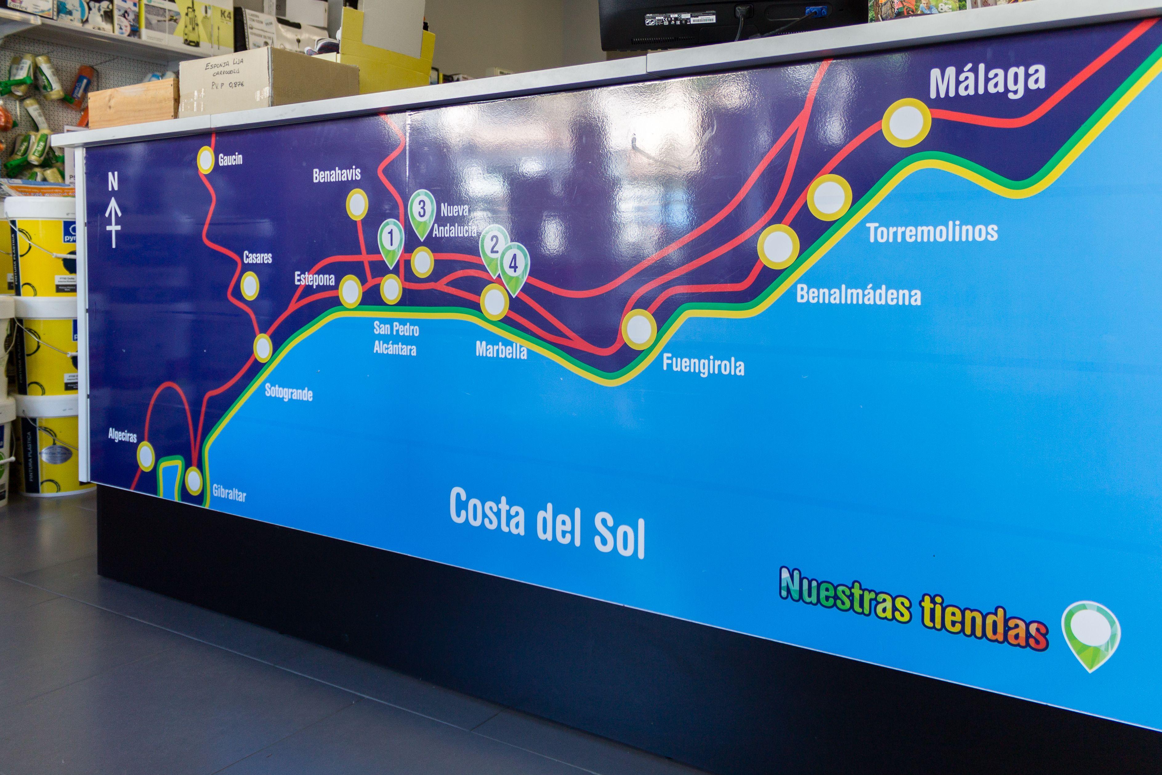 Mapa tiendas Pinturas López Martos
