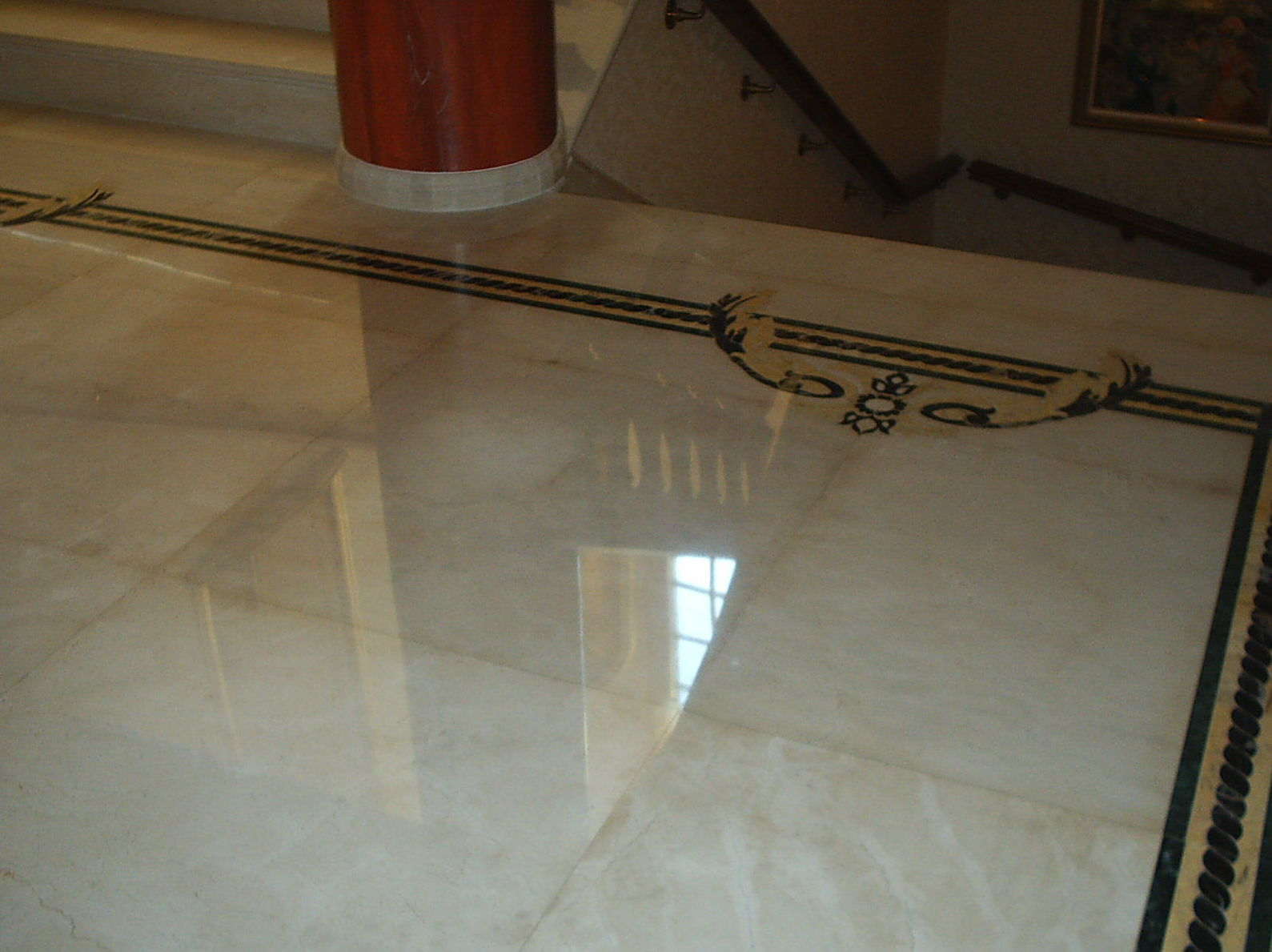 Pulimento de escaleras