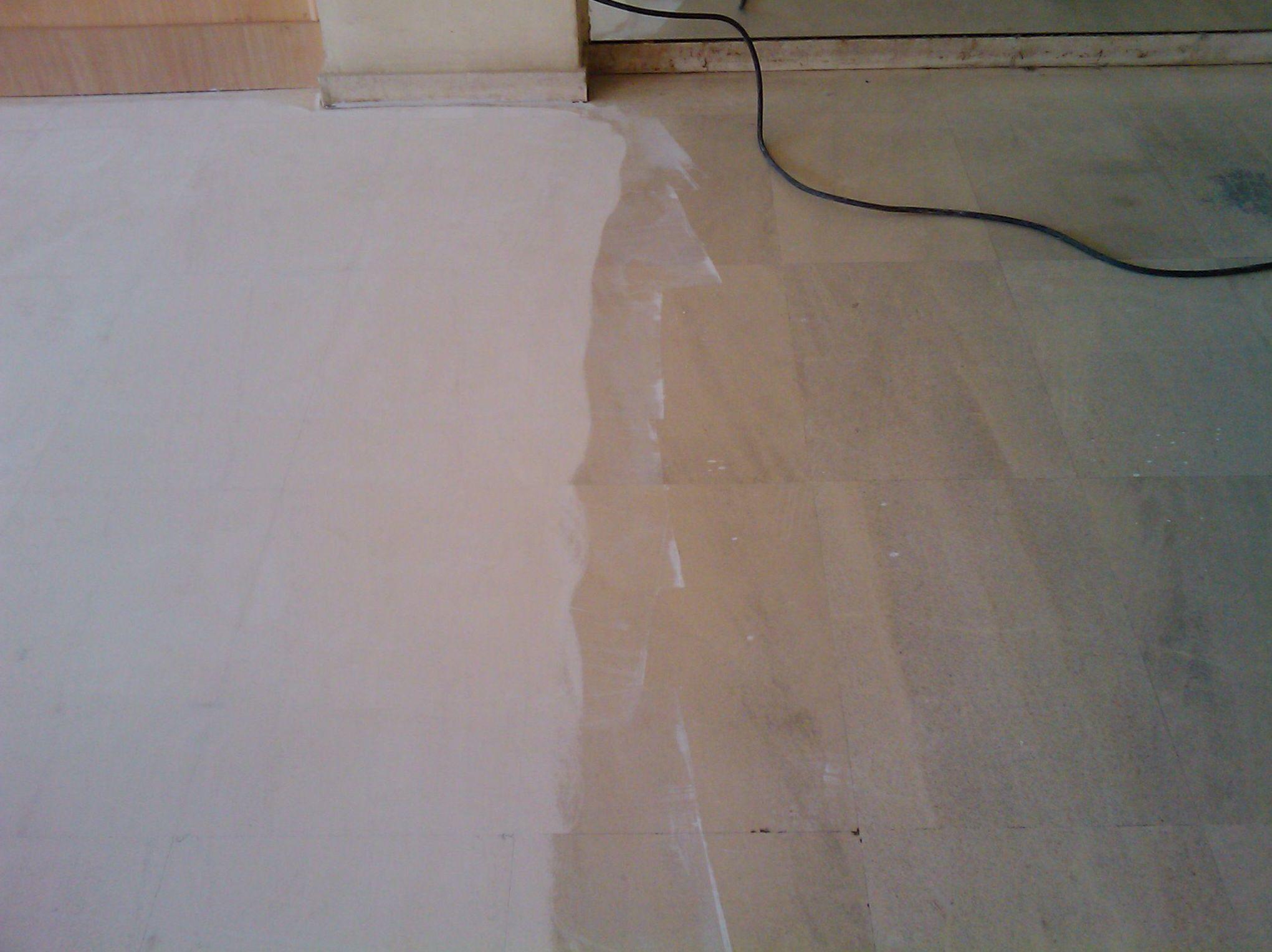 Tratamiento para suelos de mármol