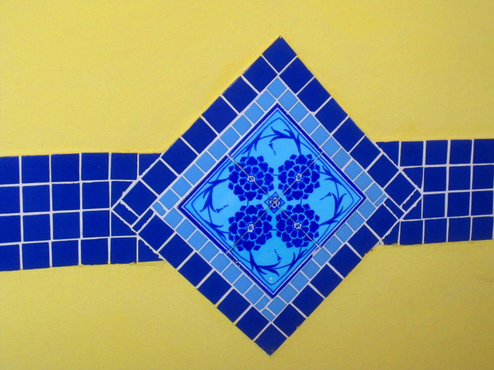 Azulejos Turcos.Detalle Aguaviva
