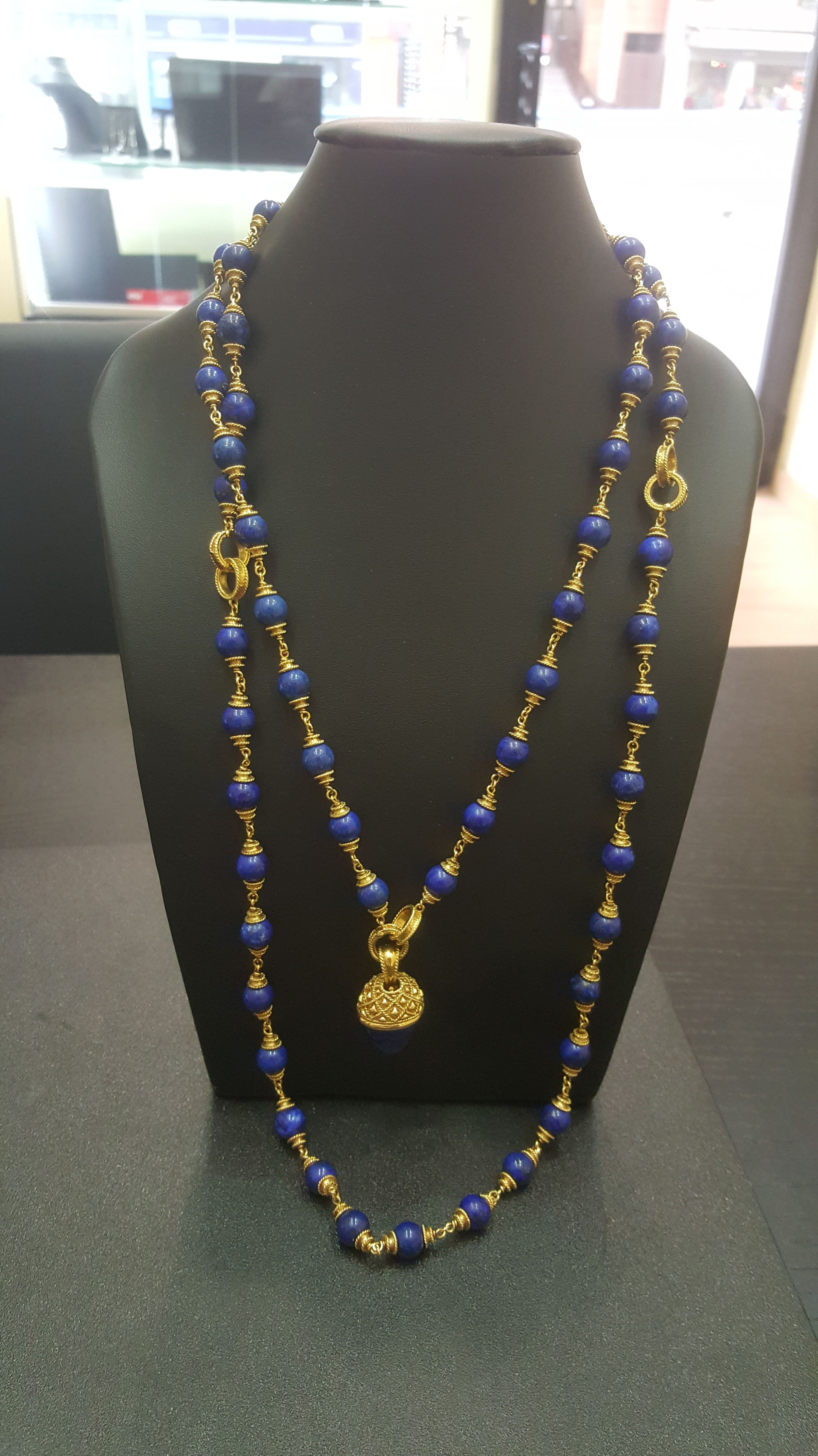 Collar oro y lapislazuli: Compra Venta de Oro y Plata de MR. SILVER & GOLD