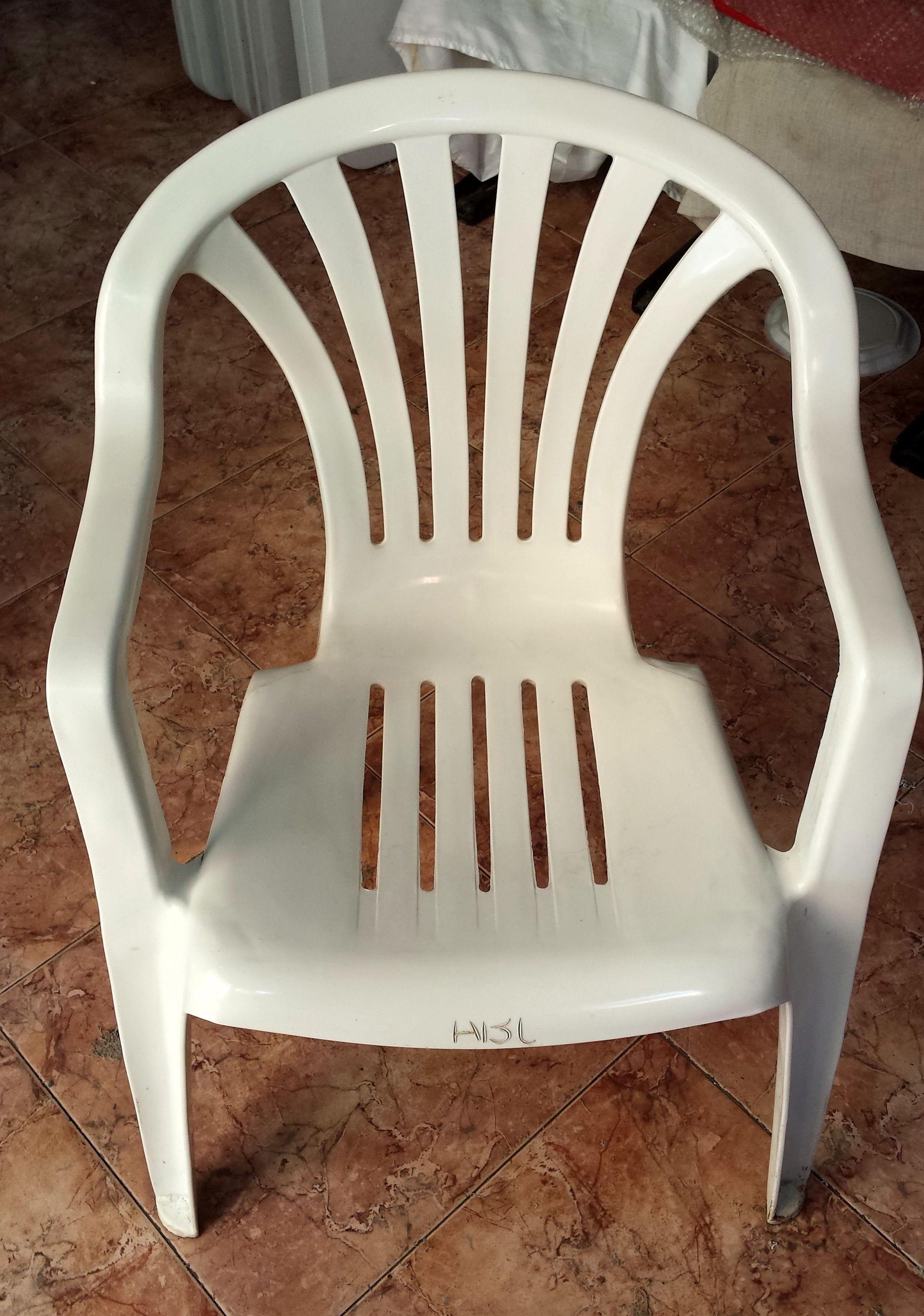 Venta de sillas usadas productos de alquileres abc for Sillas de plastico para terraza