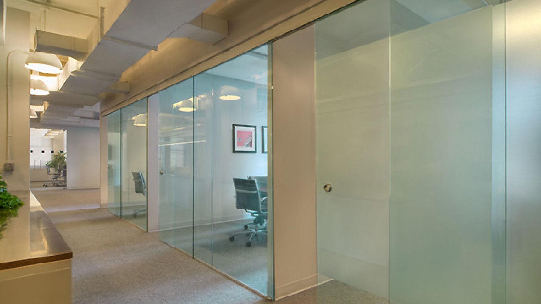 Puerta de cristal para oficina