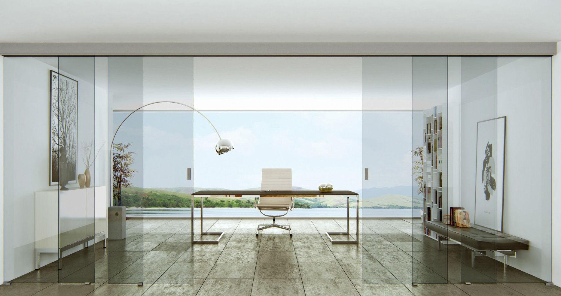 Cuatro puertas de cristal para separar despacho