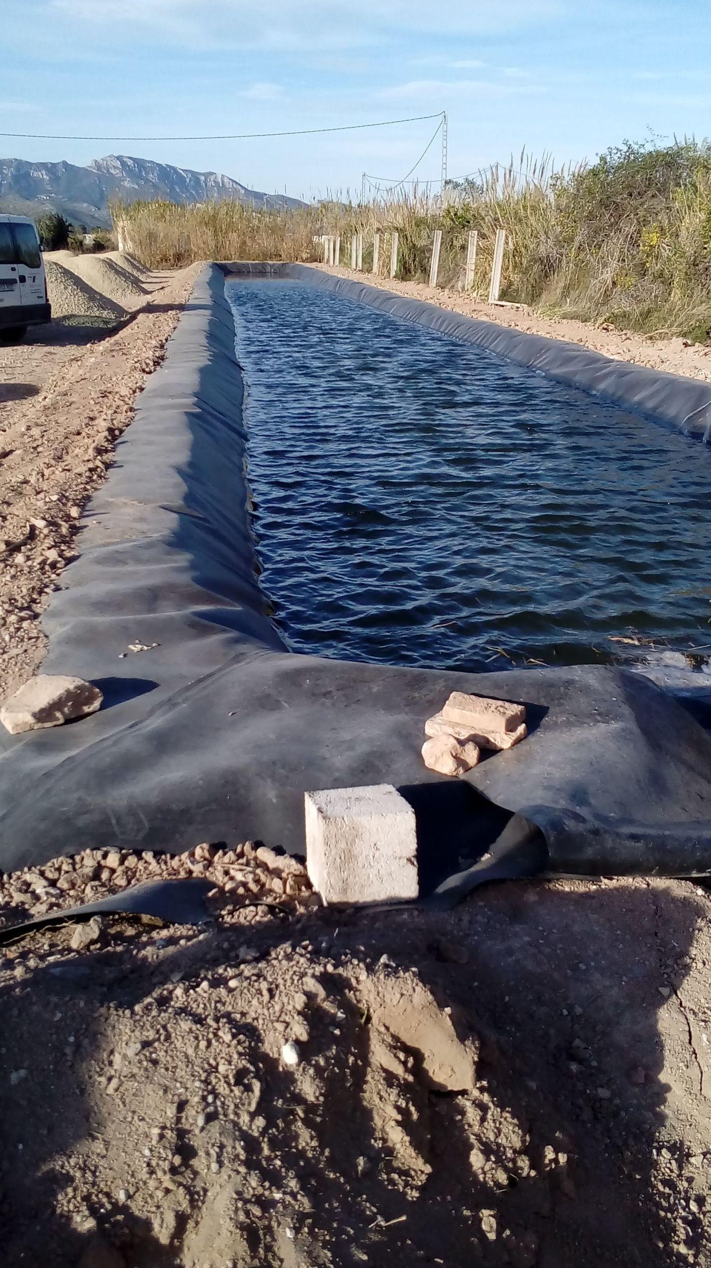 Impermeabilización balsas de riego