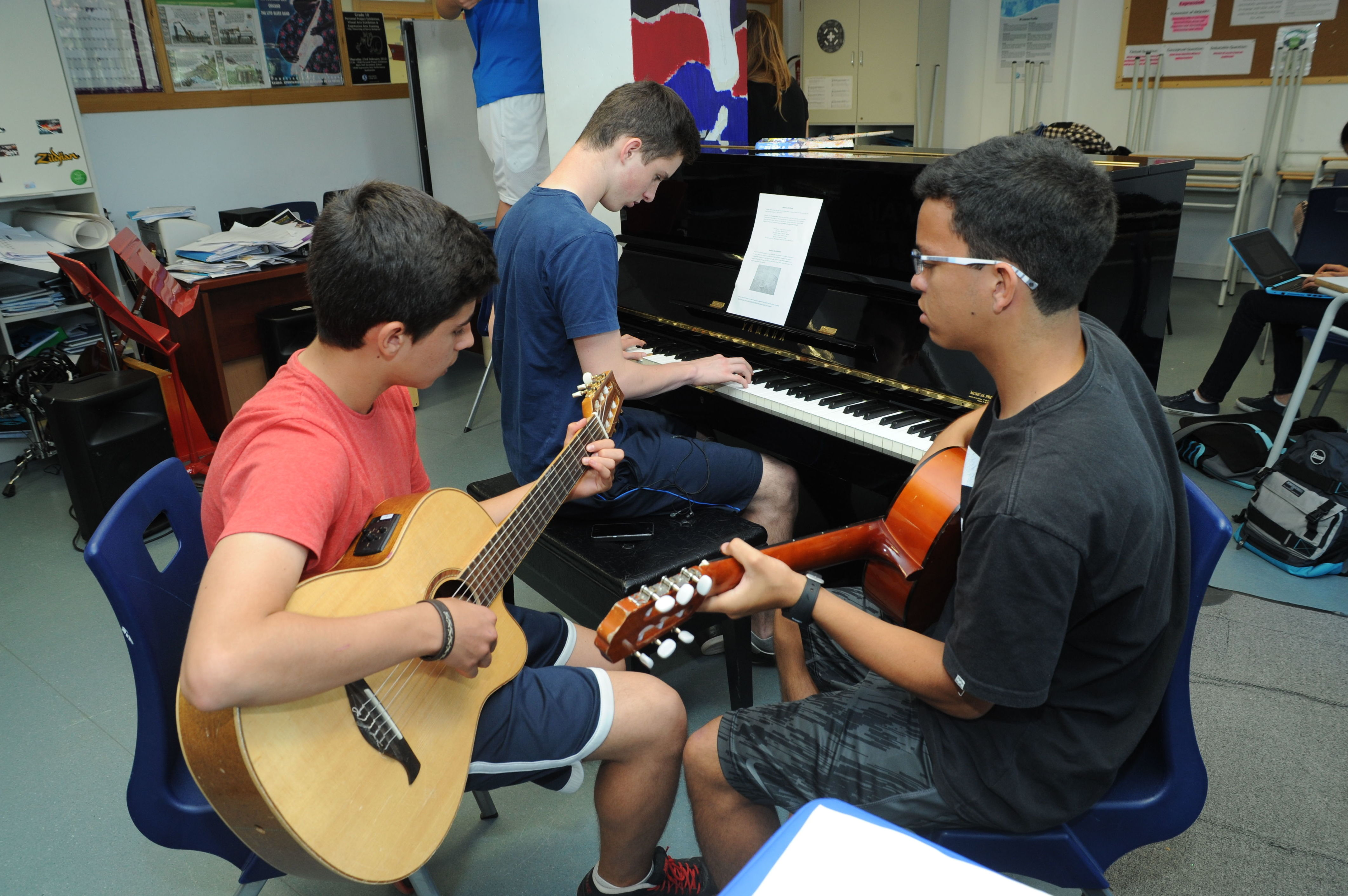 En clase de música