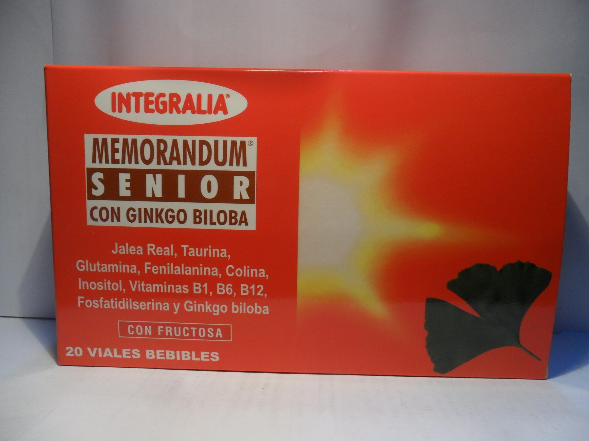 Memorandum Senior con Ginko Biloba Integralia: Catálogo de productos de Herbolario El Monte
