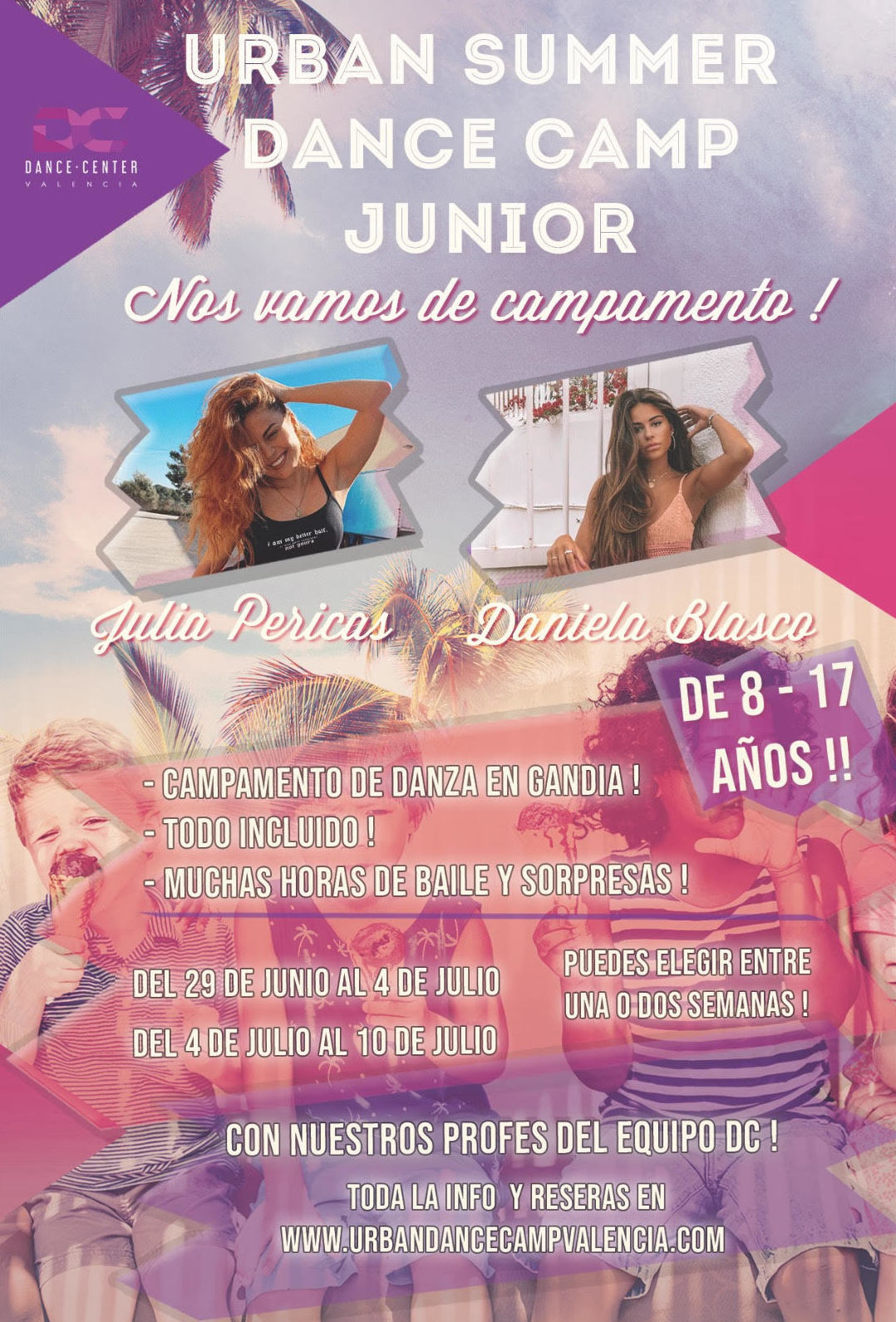 Urban Summer Dance Camp Junior 2020. Campamento de Verano 2020.: Clases y Campamentos de Dance Center Valencia