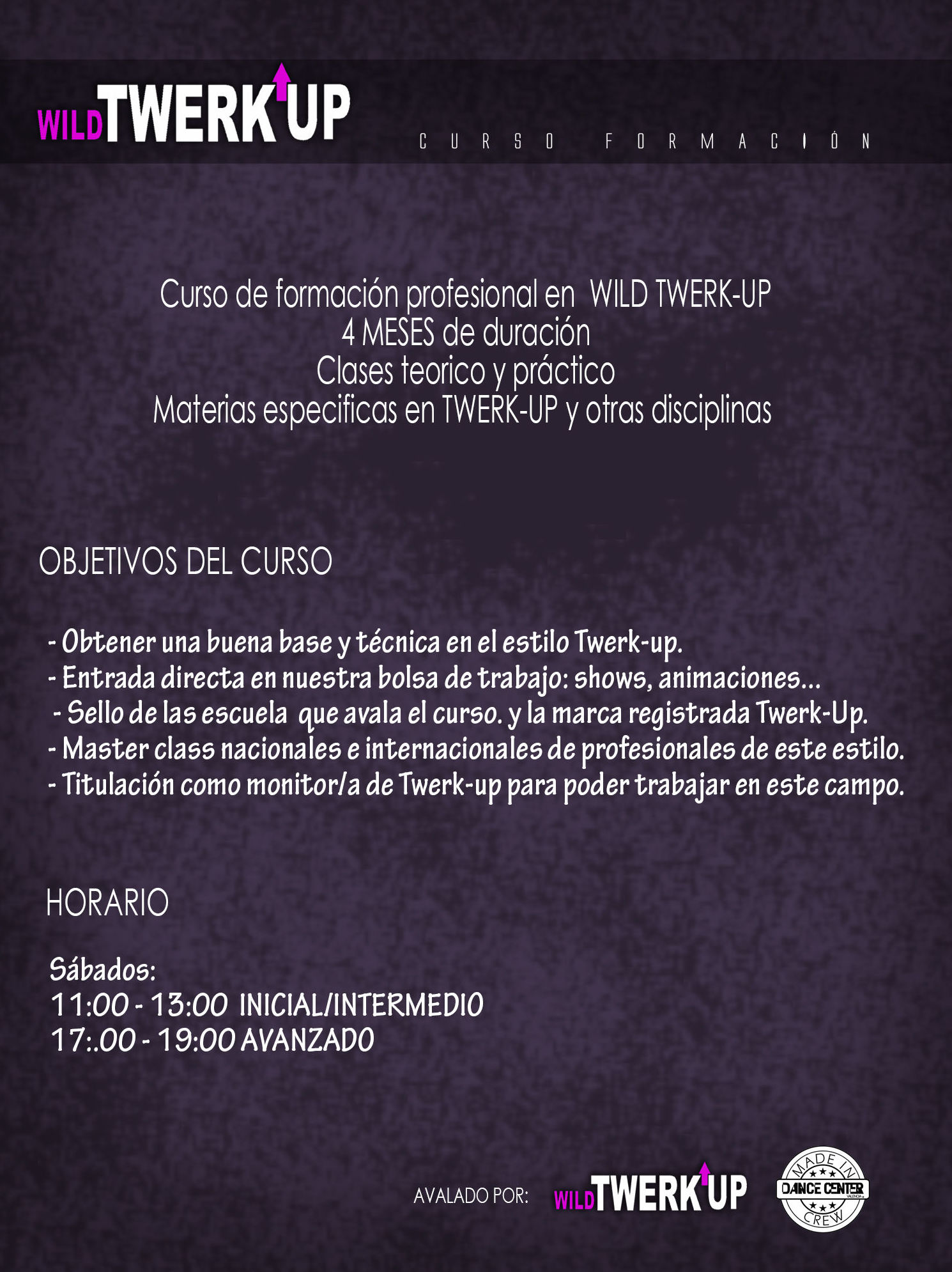 Instructor de Twerk up, Dance Center Valencia