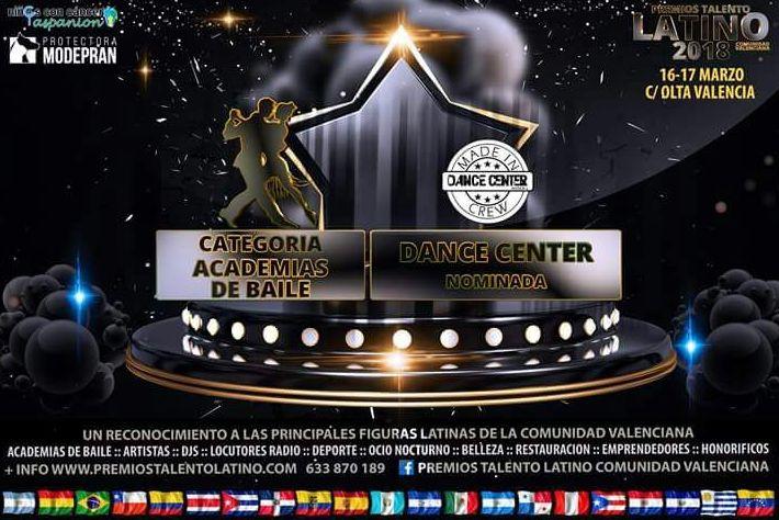 Nominación mejor escuela de baile. Premios Talento Latino!!!!