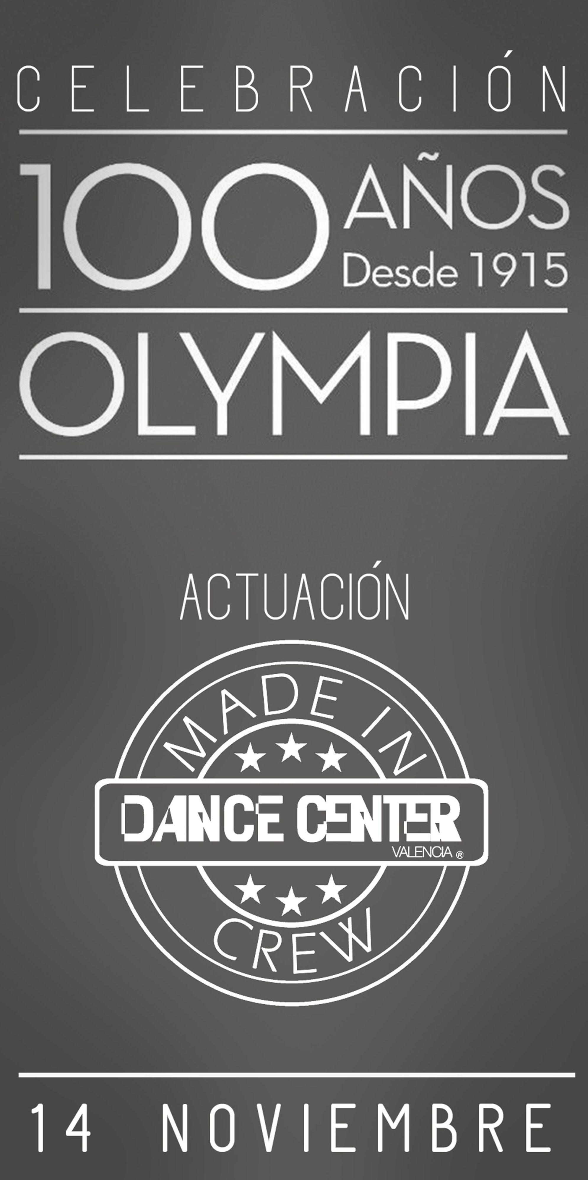 Actuación en la celebración 100 años OLYMPIA