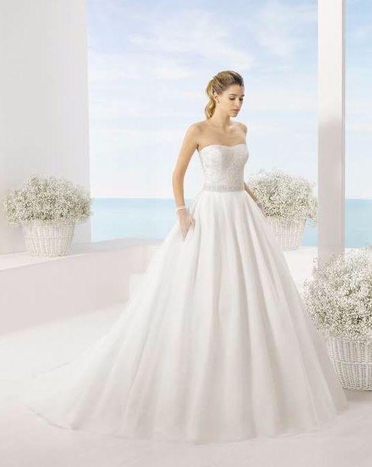Vestido de novia palabra de honor