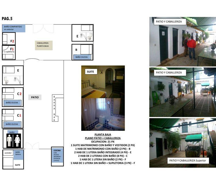 Casa rural con patio y caballeriza en Huelva