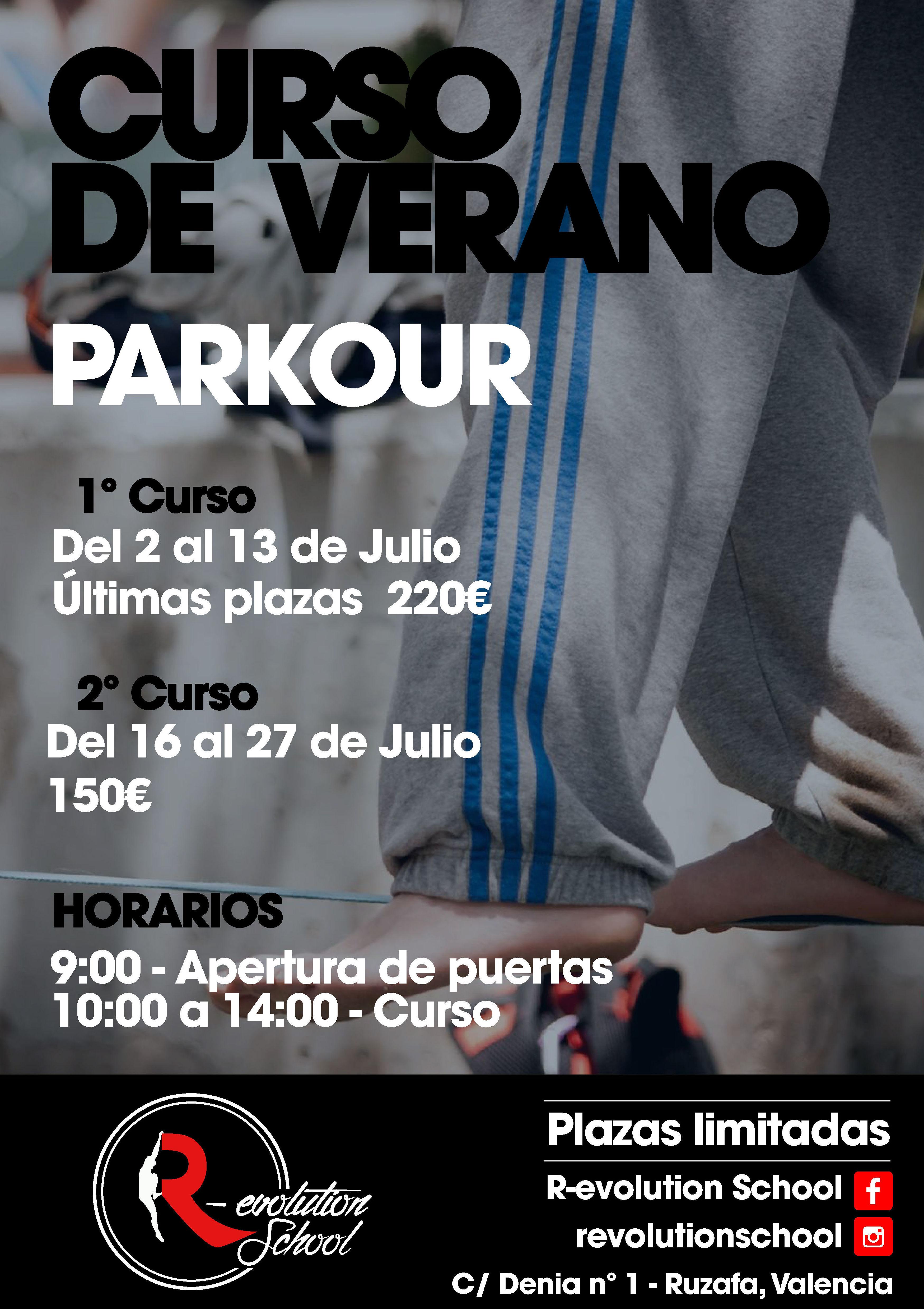 Cursos verano Parkour Valencia
