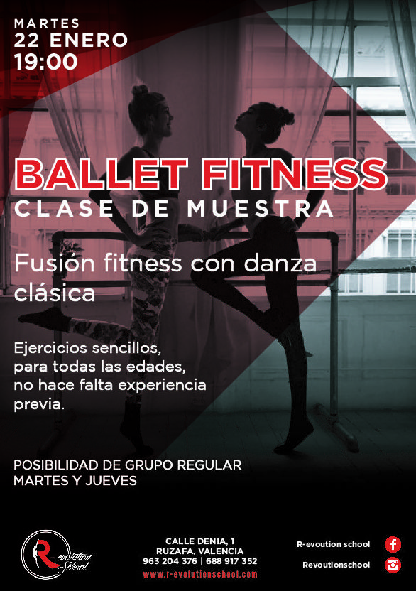 Ballet Fitness Valencia. Fusión fitness con danza clásica