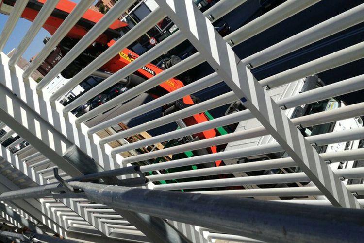 Elevación de materiales para edificios