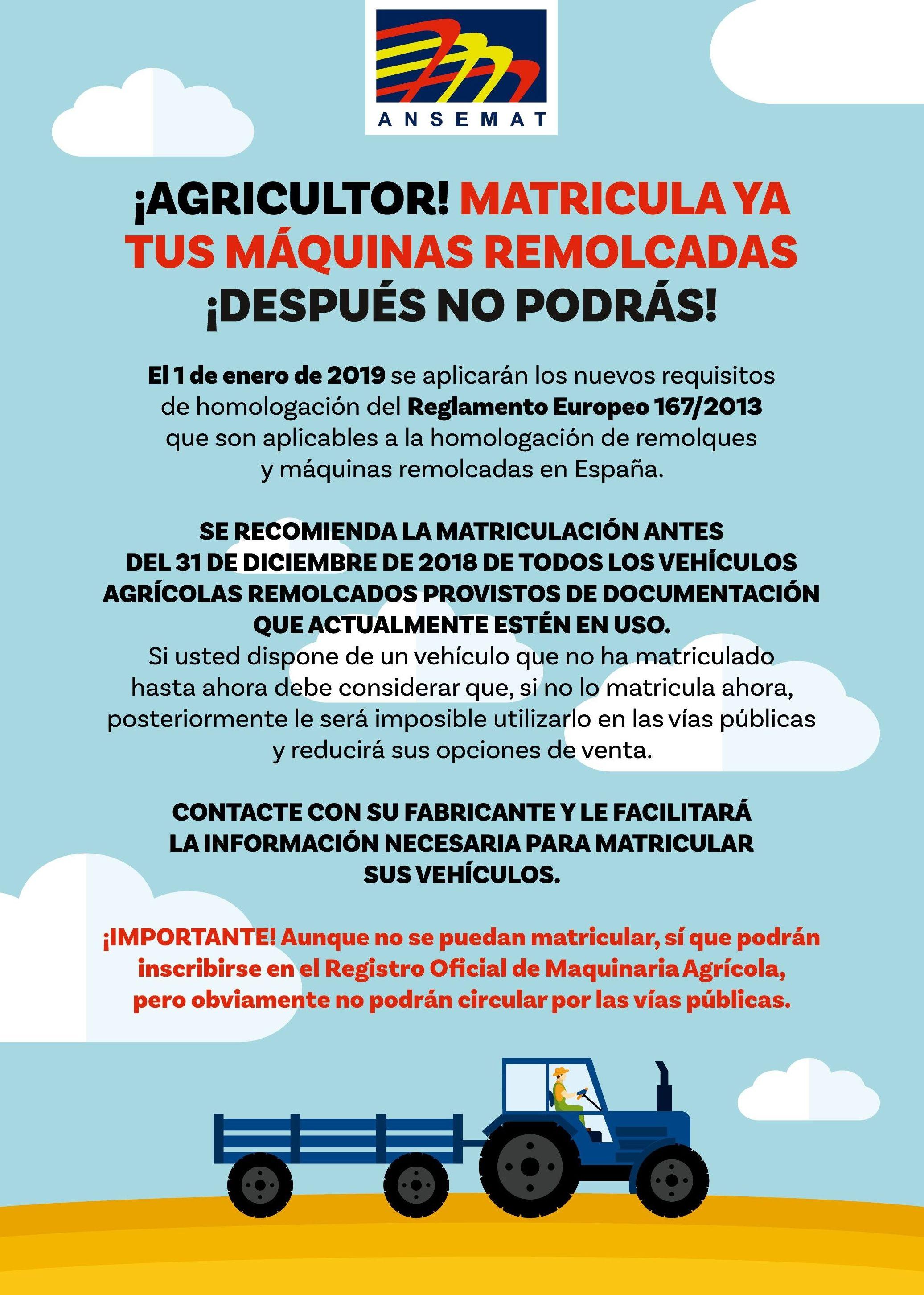 MATRICULACION MÁQUINAS REMOLCADAS