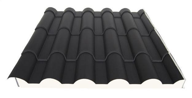 Panel imitacion teja negro pizarra paneles de panel conde grupo mi aman - Teja de pizarra ...