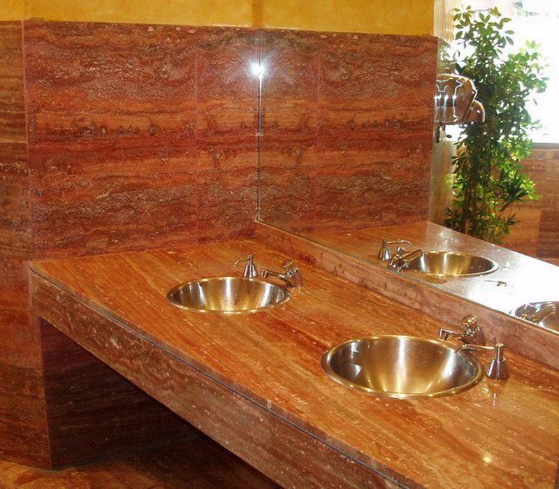 Encimeras de piedra natural a medida para baños