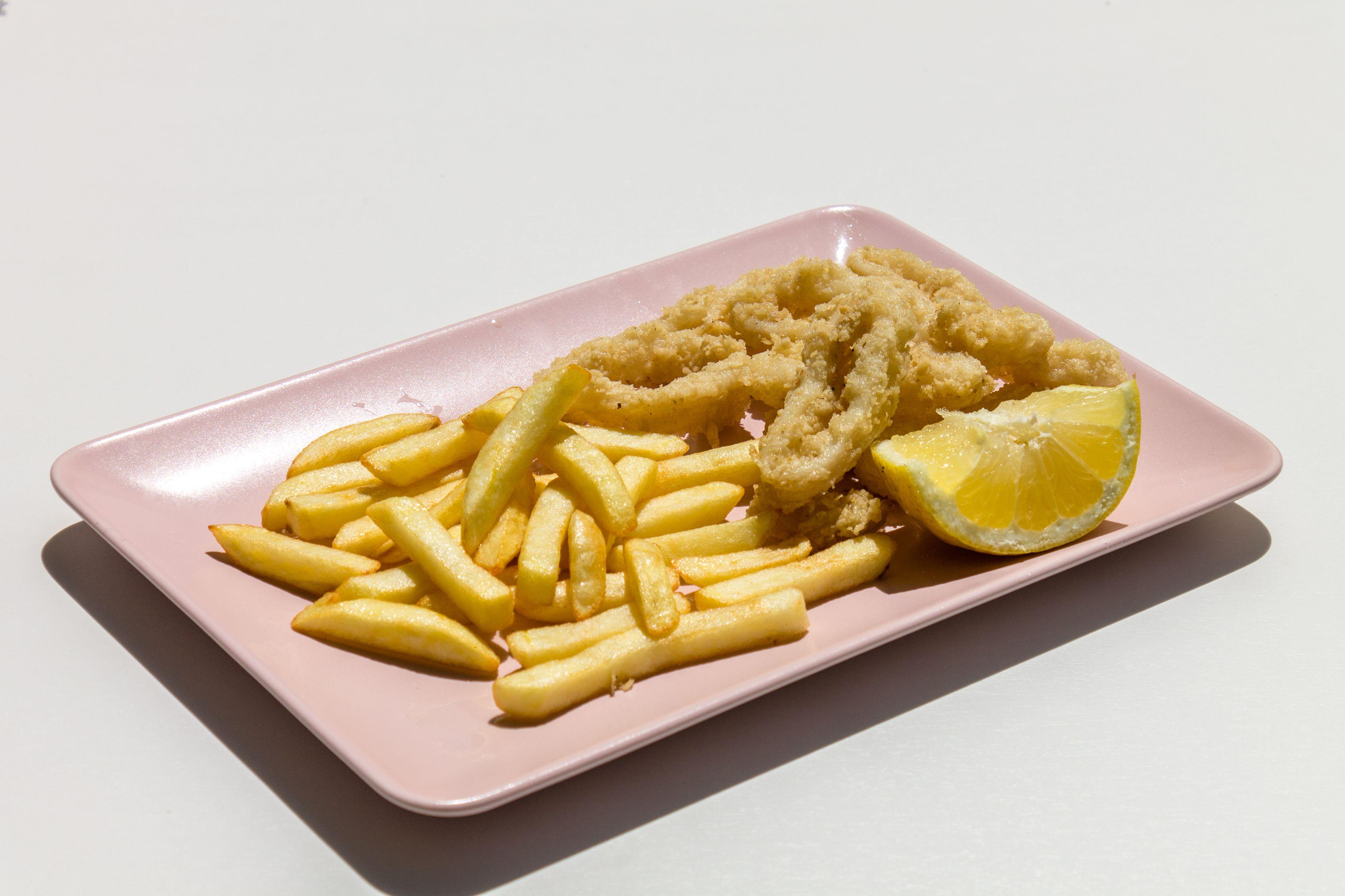 Calamares con limón
