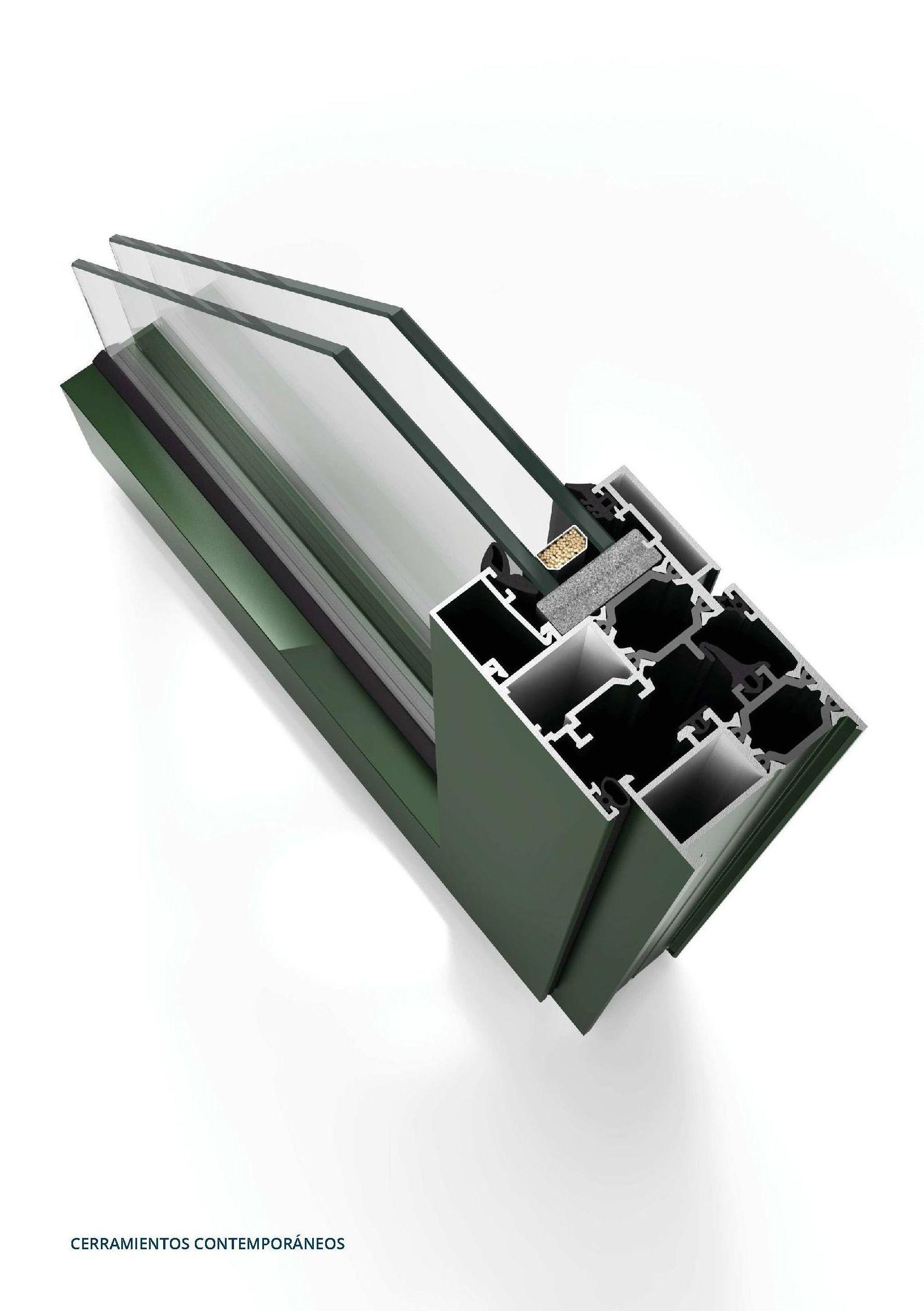 Perfil de ventana de aluminio en Asturias