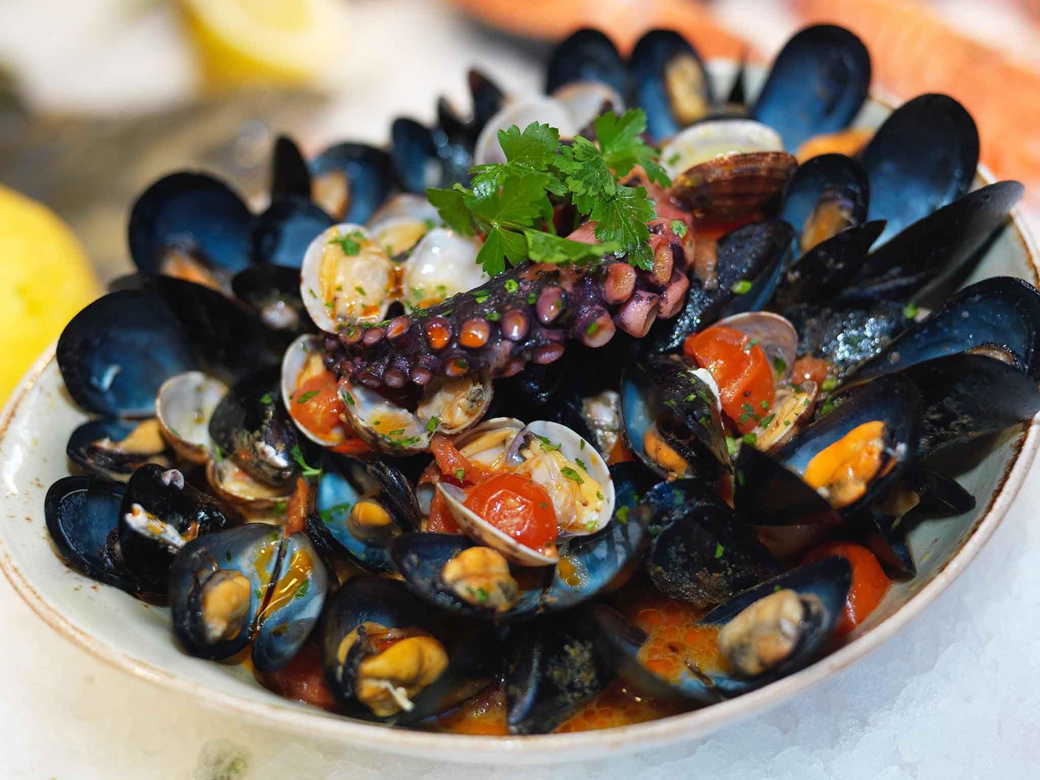Starter: Italian fish cuisine de Ristorante La Nassa
