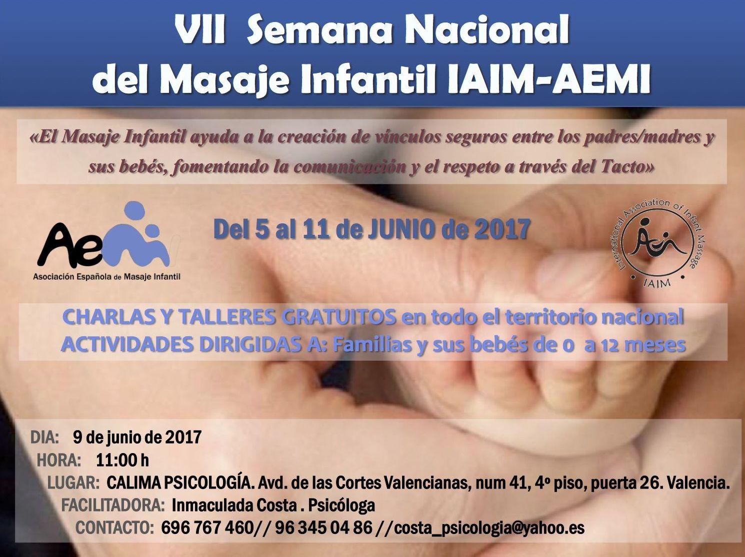 I TALLER GRATUITO DE MASAJE INFANTIL